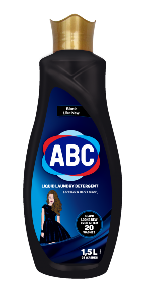 ABC Liquid Laundry Detergent For Black Clothes