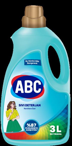 ABC Sıvı Çamaşır Deterjanı Renklilere Özel
