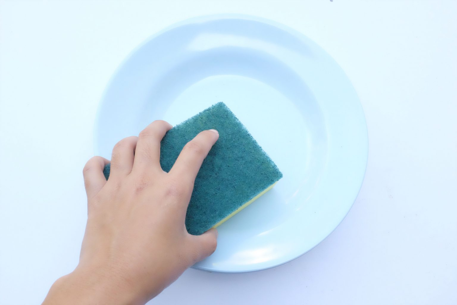How can I prevent water stains on washed dishes?